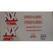 Kit De Adesivos Nx 150 90 - Moto Cor Vermelha 156