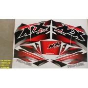 Kit De Adesivos Nx 200 01 - Moto Cor Vermelha 478