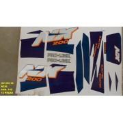 Kit De Adesivos Nx 200 96 - Moto Cor Azul (152 - Adesivos)