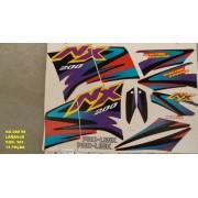 Kit De Adesivos Nx 200 98 - Moto Cor Laranja 383