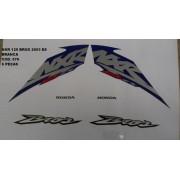 Kit De Adesivos Nxr 125 Bros Es 03 - Moto Cor Branca - 576