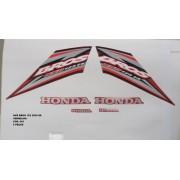 Kit De Adesivos Nxr 125 Bros Es 05 - Moto Cor Vermelha - 661