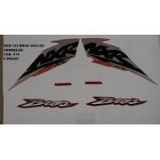 Kit De Adesivos Nxr 125 Bros Ks 03 - Moto Cor Vermelha - 574