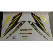 Kit De Adesivos Nxr 150 Bros Es 08 - Moto Cor Amarela - 828