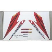 Kit De Adesivos Nxr 150 Bros Es 08 - Moto Cor Preta - 830