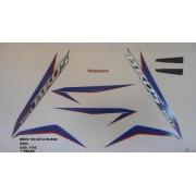 Kit De Adesivos Nxr 150 Bros Es/esd 14 Moto Cor Azul - 1152
