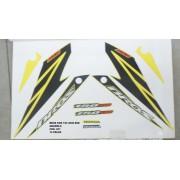 Kit De Adesivos Nxr 150 Bros Esd 08 - Moto Cor Amarela -831