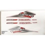 Kit De Adesivos Nxr 150 Bros Ks 06 - Moto Cor Vermelha - 712