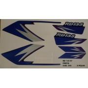 Kit De Adesivos Rd 135 97 - Moto Cor Preta (345 - Adesivos)