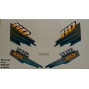 Kit De Adesivos Rd 135 99 - Moto Cor Azul (393 - Adesivos)