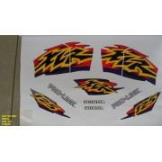 Kit De Adesivos Xlr 125 00 - Moto Cor Preta - 422