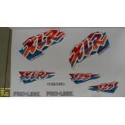 Kit De Adesivos Xlr 125 98 - Moto Cor Azul - 364
