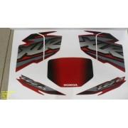 Kit De Adesivos Xlr 125 Es 02 - Moto Cor Vermelha 487