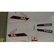 Kit De Adesivos Xls 125 88 - Moto Cor Vermelha -106