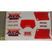 Kit De Adesivos Xlx 250 89 - Moto Cor Vermelha 90