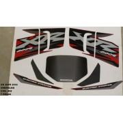 Kit De Adesivos Xr 200 02 - Moto Cor Vermelha 498