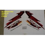 Kit De Adesivos Xr 250 Tornado 04 - Moto Cor Vermelha - 614