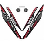 Kit De Adesivos Ybr 150 Factor 17 - Moto Cor Preta - 319