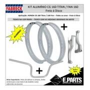 Manete Prata Cg 160 Titan/fan + Guidao Prata +aros