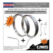 Par Aro Aluminio Cg 125 Titan / 125 Fan+guidao+manete Pol Dc