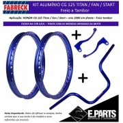 Par Aro Aluminio Cg 125 Titan / 125 Fan + Guidao + Manetes