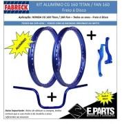Par Aro Aluminio Cg 125 Titan / 125 Fan+guidao+manetes Dc Vd