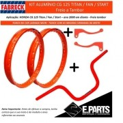 Par Aro Aluminio Cg 125 Titan / 125 Fan + Guidao +manetes Lr