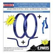 Par Aro Aluminio Cg 150 Titan / 150 Fan+guidao+manetes Dc Az