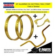 Par Aro Aluminio Cg 150 Titan / 150 Fan + Guidao +manetes Dr