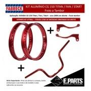 Par Aro Aluminio Cg 150 Titan / Fan +guidao +manetes Vit