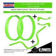 Par Aro Aluminio Cg 160 Start + Guidao +manetes Verde Neon