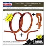 Par Aro Aluminio Cg 160 Titan/fan +guidao+manetes Dourado Es