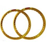 Par Aro Alumínio Dourado Cg 150 Cargo 18x185+18x215