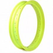 Par Aro Aluminio Nxr 125 Bros Amarelo Neon 19x185+17x215