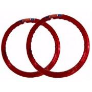 Par Aro Alumínio Vermelho Vitral Cg 125 Medida 18x160+18x185