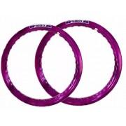 Par Aro Alumínio Violeta Moto Dt 200 Medida 18x215+21x185