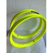 Par Aro Moto Alumínio Amarelo Neon Titan Fan 150/125