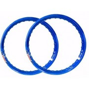 Par Aro Moto Alumínio Azul Titan150 Medidas 18x185+18x185