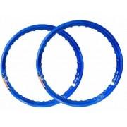 Par Aro Moto Alumínio Azul Titan Fan 125/150