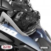 Scam Protetor Farol Aço Carbono Bmw R1250gs 2019+ Spto285