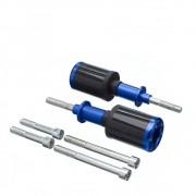 Slider Universal Bering Batente (par) Carbon Aluminio Azul