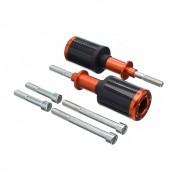 Slider Universal Bering Batente (par) Carbon Aluminio Laranj