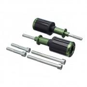Slider Universal Bering Batente (par) Carbon Aluminio Verde