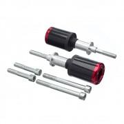 Slider Universal Bering Batente (par) Carbon Aluminio Vermel