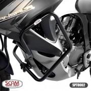 Spto062 Scam Protetor Motor Carenagem Transalp700 2011-2014