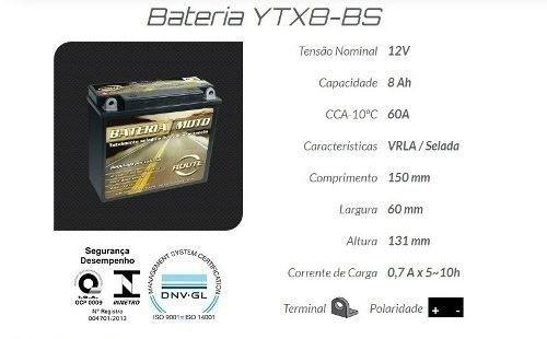 Bateria Moto Route Yamaha Neo At 115 Ytx8-bs