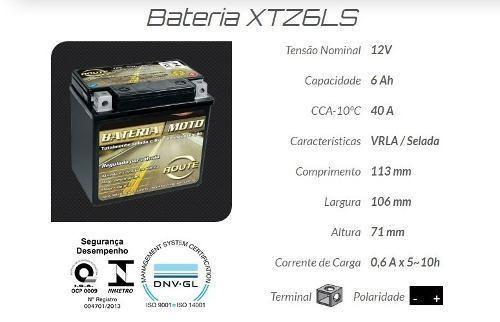 Bateria Xtz6ls Honda Broz 150 Es Esd Ano 10/...12 V 6 Ah