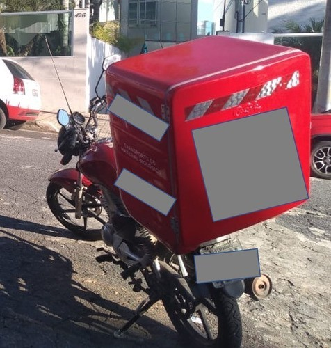 Bau Fibra Moto Divisorias Fixas Pizza Extra Gigante 245 Lts