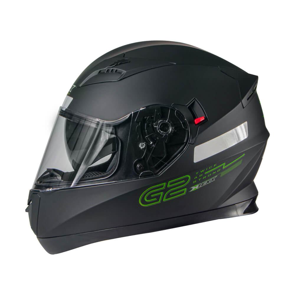 Capacete Texx G2 Solido Preto/verde