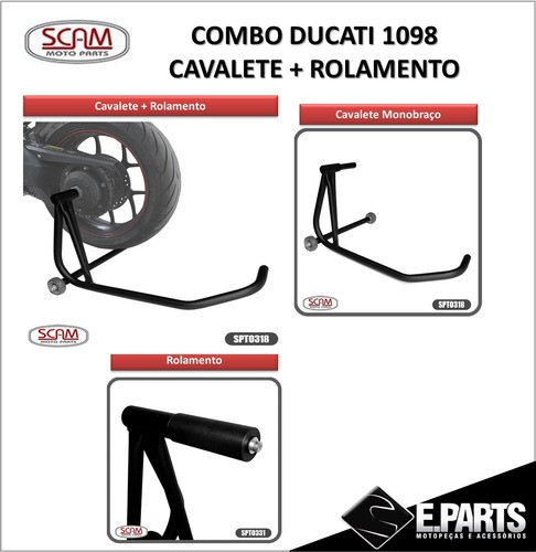 Cavalete Monobraço Ducati 1098 Scam Sp